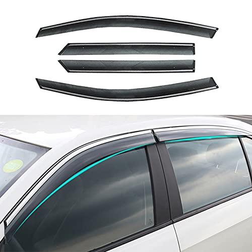 4PCS Deflettori Aria Auto per Peugeot 408/308/2008/4008 2008-2014 2015 2016 2017 2018, deflettori per vetri anteriori posteriore Parapioggia/Alette parasole, scure