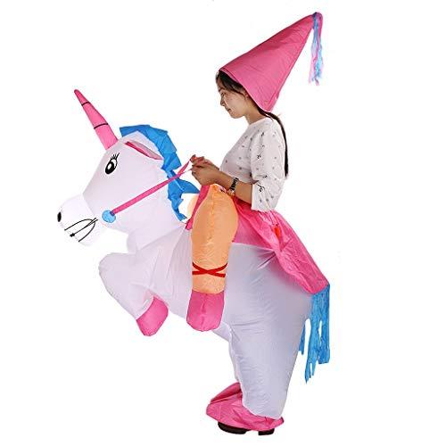 YKOUT Aufblasbares Kostüm Einhorn Erwachsene Halloween Kostüm Prinzessin Hen Hirsch Nacht Outfit Spielzeug Kinder Schöne Sammlung