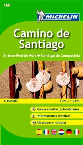 Mapa-Guía Camino de Santiago: St-Jean-Pied-de-Port - Santiago de Compostela 1/150