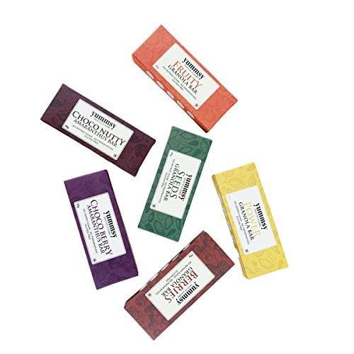 Yummsy – Assorted 6 Granola Bars – Seeds, Choco-Nutty, Power, Berries, Fruity & Choco-Berry.…