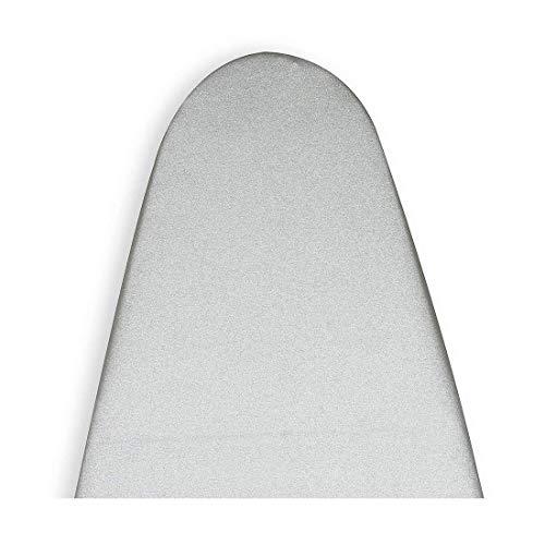Encasa Homes Cubierta de la Tabla de Planchar Metalizada de Silver Super Luxury con Espuma + Fieltro Pad (se Ajusta a Las Tablas de Amplia 125 x 46 cm) Reflectante al Calor, 3 Sujetadores