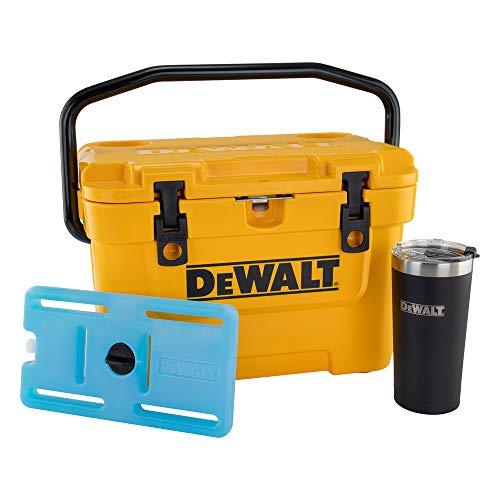 Dewalt DXC1012B 10 Quart Roto-Molded Lunchbox Cooler/ 10 Quart Ice Pack Cooler/ 20 oz. Black Tumbler Combo