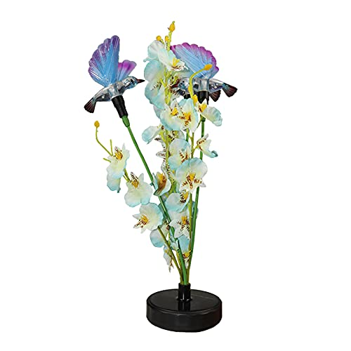 Gallity 29.5''Creativity Solar Flower Outdoor Garden Stake Landscape Lights - with Two Birds Statue Flowers Lawn Led Waterproof Lamp Plug in The Ground - for Yard, Patio, Backyard Decoration