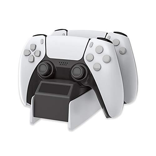 KLFD Base de Carga del Controlador para PS5, Dual Estación de Carga Rápida, Soporte de Carga Type-C, para Controladores Playstation 5 DualSense