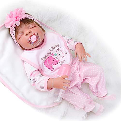 ZIYIUI 23' 58cm Muñecas Reborn Bebé Silicona Vinilo niña muñeca más Popular Preferido Regalo