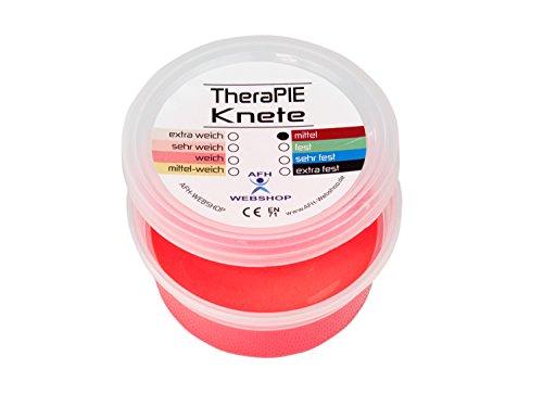TheraPIE Knete, 85 g, Therapie Knetmasse, 8 verschiedene Stärken (rot: mittel)
