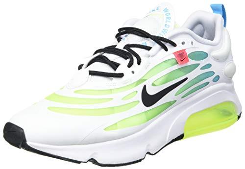 Nike Men's Air Max Exosense SE Running Shoe, White Black Volt Blue Fury, 7.5 UK