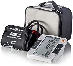 Dario Blood Pressure Monitor Upper Arm Includes: Blood Pressure Cuff, Carrying Bag, Batteries. Bluetooth to Dario Mobile App for Simple Data Tracking and Sharing (Large 9.4-17 in (24-43cm))