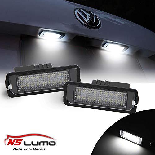 2 uds Canbus LED luz de placa de matrícula para VW Golf GTI MK4 MK5 MK6 Eos Lupo Seat Leon Altea Skoda Superb Boxter Cayman 987 Carrera 996997