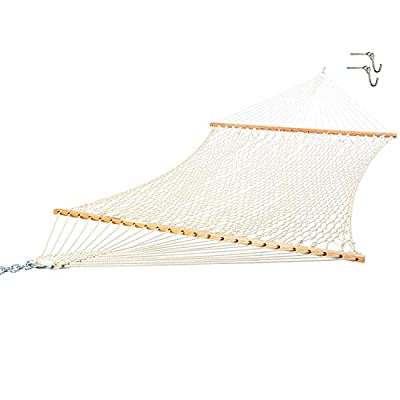 Castaway Hammocks 14 ft. Texas Size Extra Long Double Cotton Rope Hammock