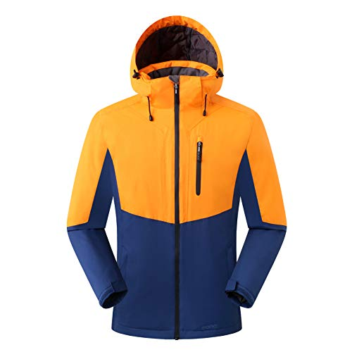 Amazon Marke: Eono Essentials Herren Skijacke, Orange, L