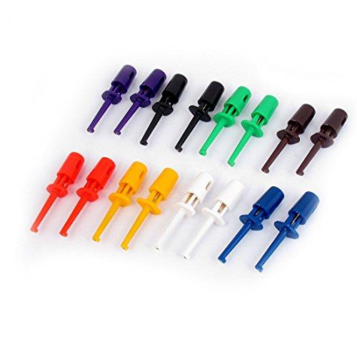 sourcingmap® 8 Piezas Multicolor Voltímetro Eléctrico Llevar Cavo Prueba Ganchos 42mm