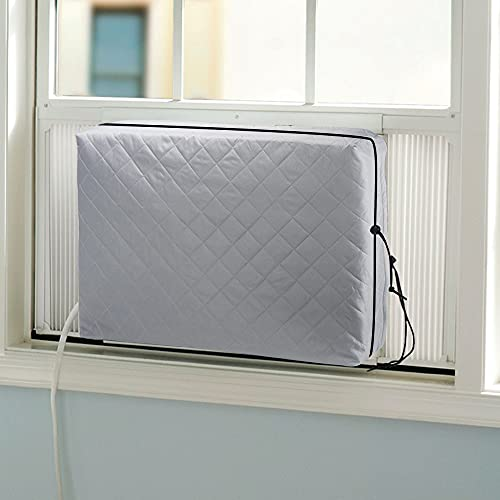 Indoor Air Conditioner Cover, AC Unit Window Cover for Inside Double Insulation with Elastic...