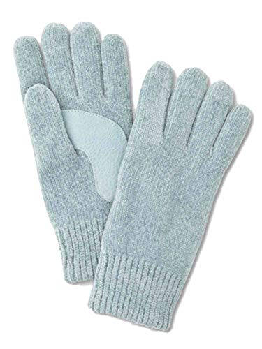 Isotoner Womens Light Blue Rayon Chenille Knit Gloves Thinsulate Platine Lined