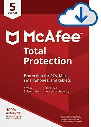 Mcafee Total protection 5 Device 2019 (Download link and activation key via Amazon Message on same day purchase)