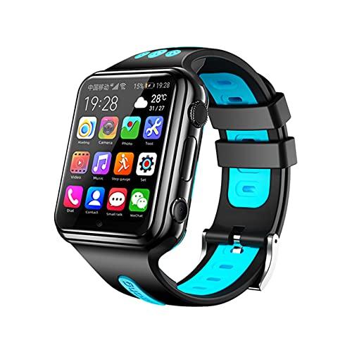 4G Smart Watch for Boys Girls - Pantalla Táctil Smartwatch con GPS SOS Dual Cámaras, Regalos De Cumpleaños para Niños Niñas 7-16 Años,Azul