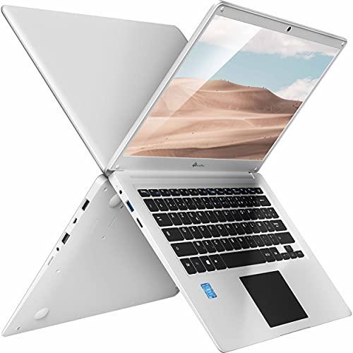LincPlus P3 Ordinateur Portable Windows 10 S Notebook,14' 1080P Full HD IPS, Intel Celeron N3350 4Go RAM 64Go Stockage Netbook, Blanc Clavier Français AZERTY