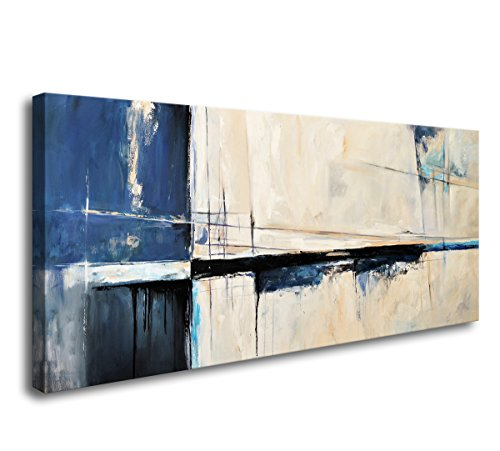 Wall Art Framed Canvas Prints Abstract Color Block Stretched and Framed Canvas Paintings Ready to Hang for Home Decorations Wall Decor A60350 …