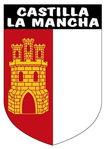 Artimagen Pegatina Escudo Vertical Castilla la Mancha 40x60 mm.