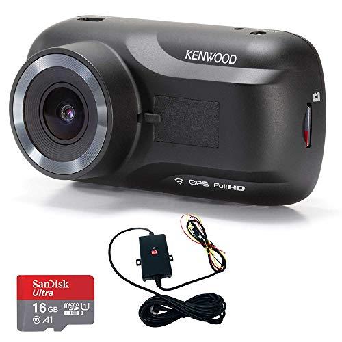 Kenwood DRV-A301W Full HD Dash Cam + CA-DR150 Hardwire Kit Bundle