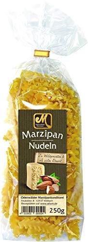 Odenwälder Marzipan - Nudeln mit Marzipangeschmack 250g im Beutel. Ideal zu Wildgerichten und als süßes Dessert.