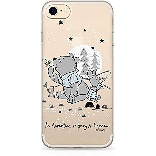Estuche para iPhone 7, 8, SE2 Disney Winnie The Pooh Original con Licencia Oficial, Carcasa, Funda, Estuche de Material sintético TPU-Silicona, Protege de Golpes y rayones