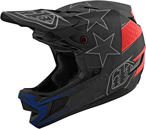 Troy Lee Designs Adulto | BMX | Downhill | Bicicleta de montaña | Casco integral D4 Carbon MIPS Freedom 2.0 (Grande, Negro/Rojo)