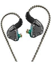 NICEHCK NX7 カナル型イヤホン バランスドアーマチュア型ドライバー4基+2DD(複合カーボンナノチューブダイナミック) + 1セラミック振動板ドライバー 片側に7基のドライバーユニット 2pinリケーブル着脱式 ハイブリット 耳掛け式 高純度銅ケーブル3.5mm L型プラグ 高音質 高遮音性 高解像度 HIFI ハイファイ 高純度銅ケーブル付属 IEM