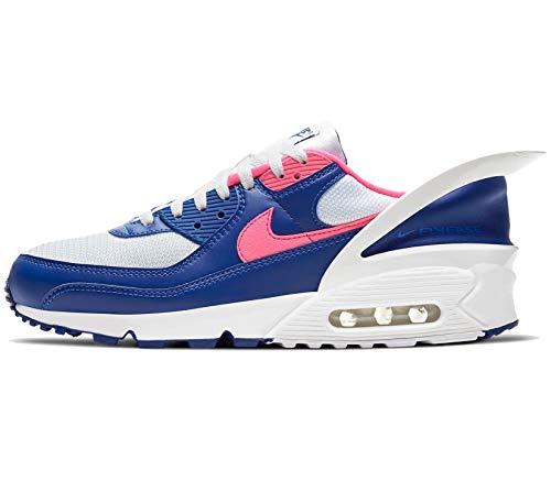 Nike Air Max 90 Flyease In Esecuzione Scarpe Casual Uomini Cu0814-102 Dimensione, blu (Bianco/Hyper Rosa-bianco-profondo Royal Blue), 47 EU