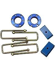 JINGLINGKJ Kit de suspensión delantera de 32 mm de 51 mm de regalo para Bloques de suspensión trasera para Navara D40 NP300 UBolt Kit de Elevación Adaptador de Resorte de Resorte 2 Piezas