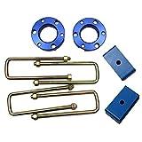 JINGLINGKJ Entretoises de suspension avant de Cadeaux Blocs de suspension arrière kits de levage pour Triton L200 2005–2014 UBolt Kit adaptateur de levage à ressort 2 pièces