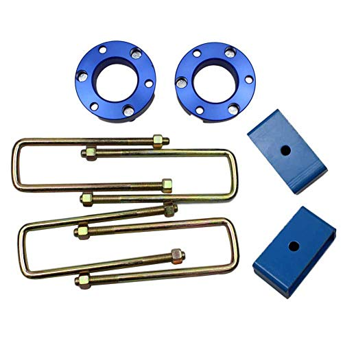 JINGLINGKJ Frontaufhängung Geschenke Geschenke Hinterradaufhängung Blöcke Lift Up Kits for Ni-ssan Navara D40 NP300 UBolt Kit Hebeadapter Federbeinfeder 2 Stück