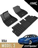 3D MAXpider Tesla Model 3 2020-2021 All-Weather Custom Fit Car Floor Mats Liners, ELITECT Series