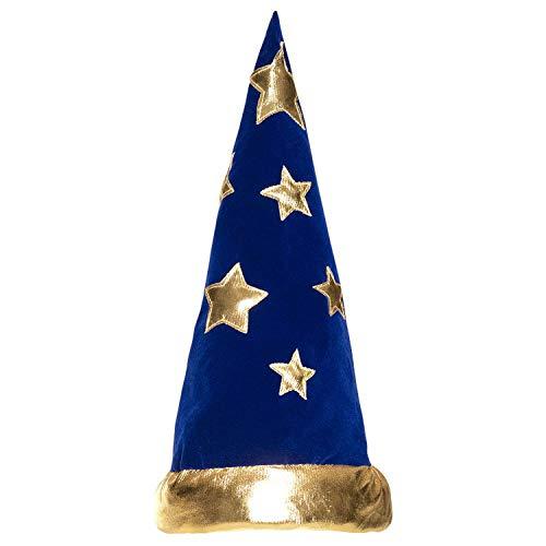 Boland 04228 10130552 Spitz Hut Wizard, blau/Gold