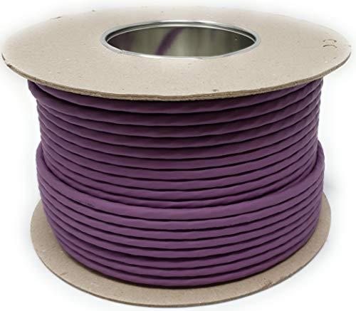 100 M Cat 7A Ethernet LAN-Kabeltrommel (Trommel), 1200 MHz, 4 Paar, High Speed, Halogenfrei, Kupfer, super schnell, Poe + (Violett)