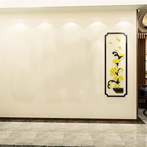 HSIOVE Pegatinas de la Pared del Tema de la Flor Decoración del Hotel Decoración de la Pared Calcomanías de la Pared Decoración de la Cocina 3D Etiquetas de la Pared Pegatinas del pórtico del pórtico