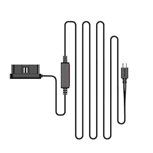Vantrue OBD Hardwire für N4/ T3/ N2S Dash Cam mit Typ C Anschluss, 12/24V zu 5V, 24 Stunden Parküberwachung, Niederspannungsschutz, konstante Stromversorgung, Kabel 3M Lange