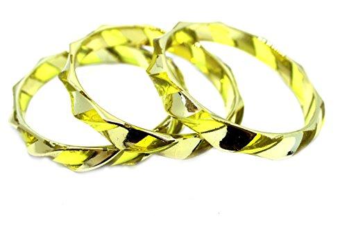 Westland GmbH Armreif-Set 3 teilig gestreift zweifarbig (gelb/Gold) 051-00019