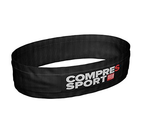 COMPRESSPORT Adulto Free Belt Cintura da Corsa, Nero, XL/XXL