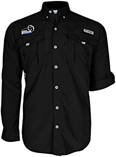 Southeastern Oklahoma State Columbia Bahama II Black Long Sleeve Shirt 'New Primary Logo Embroidery'