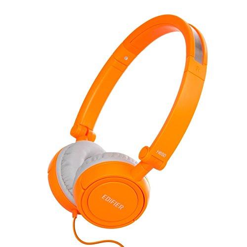 Edifier - H650 - Auriculares supraurales, Hi-Fi, con Aislamiento de Ruido, Plegables y Ligeros, para Adultos y niños, Color Naranja