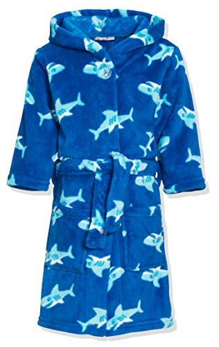 Playshoes Fleece-Bademantel Hai Albornoz, Azul (Original 900), 146/152 para Niños