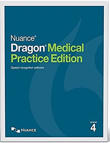 Nuance A709AX0040 Dragon Medical Practice Edition 4 Speech Recognition Software, Medical Vocabularies and Acoustic Models Tuned for the Way Clinicians Speak, Simplified Interaction with EHRs
