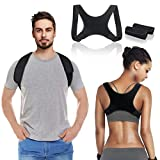 <span class='highlight'><span class='highlight'>LIUMY</span></span> Posture Corrector, Back Straightener for Men and Women, Adjustable Breathable Posture Trainer, Back Brace Corrector Effective for Relief Back/Chest/Neck/Shoulder(Black)