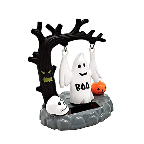 Muñeca De Juguete Solar De Halloween, Cabezas De Bobble Que Ahorran Energía, Adorno De Figura De Baile, Juguetes De Dibujos Animados Para Columpiar La Cabeza Para La Decoración De La Fiesta Halloween