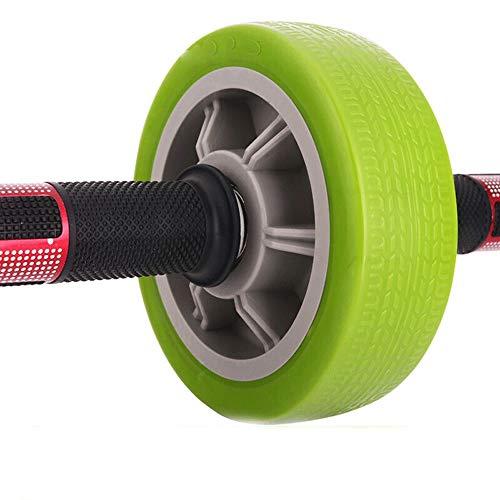 XMGJ Abdominal Rad, zu Hause Fitnessgeräte Fitness-Rad Männer und Frauen High-End-Einrad doppelt gelagerter Antriebsrolle grün Abs (Color : Green)