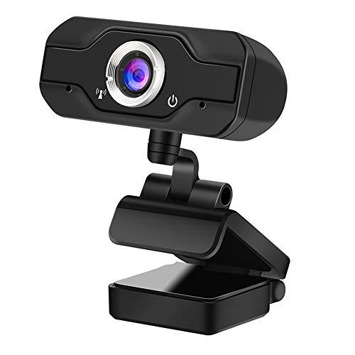 Webcam FHD, cámara de transmisión en directo 1080p, PC, Webcam con USB y micrófono para ordenador de sobremesa o portátil, Skype Facebook OBS Xbox XSplit, compatible con Mac OS Windows 10/8/7