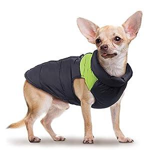 Wooce Chien des vêtements Chauds imperméable à l'eau pour Animaux de Compagnie Gilet de Coton rembourré Hiver vers Le Bas Veste Manteaux Ski Costume extérieur pour Petit Chien