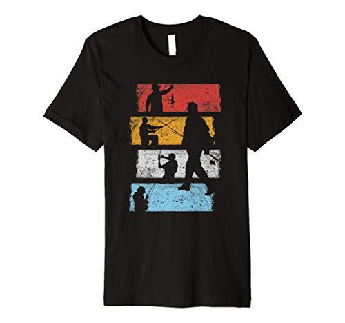 Vintage Retro Angeln Fischen T-Shirt Geschenk für Angler