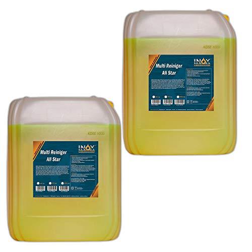 INOX® All Star, 2 x 10 Litres - nettoyants multi universels pour les textiles de nettoyage et plastiques